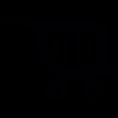 Shop cart doodle vector logo