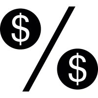 Dollar Percentage symbol vector