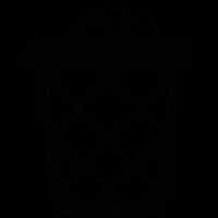 Wastepaper basket vector