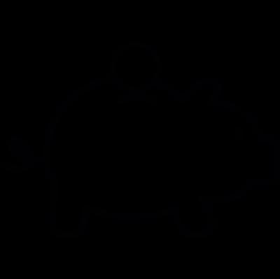 Piggy bank, IOS 7 interface symbol vector logo
