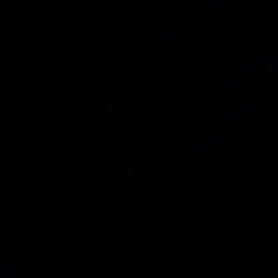 Fork shape, IOS 7 interface symbol vector logo