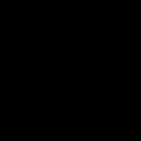 Five fingers silhouette vector