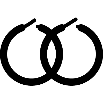 Round earrings vector logo