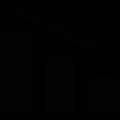 Negative statistics graph vector logo