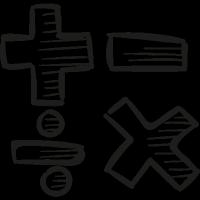 Maths Symbols vector