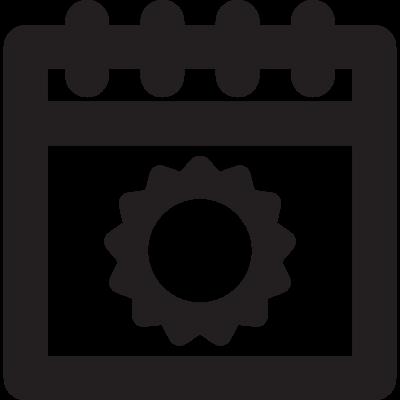 Summer Calendar vector logo