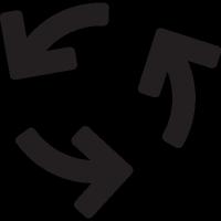 Three Curved Arrows vector