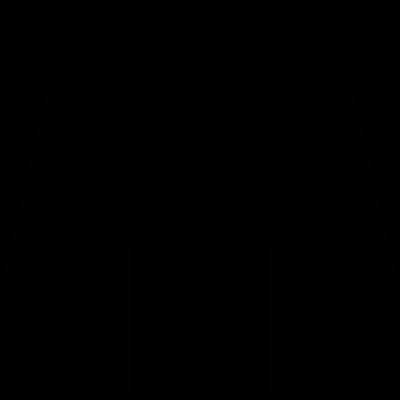 Binoculars silhouette vector logo
