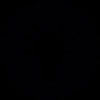 Light Bulb On Button vector