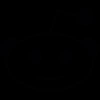 Reddit social Logo vector