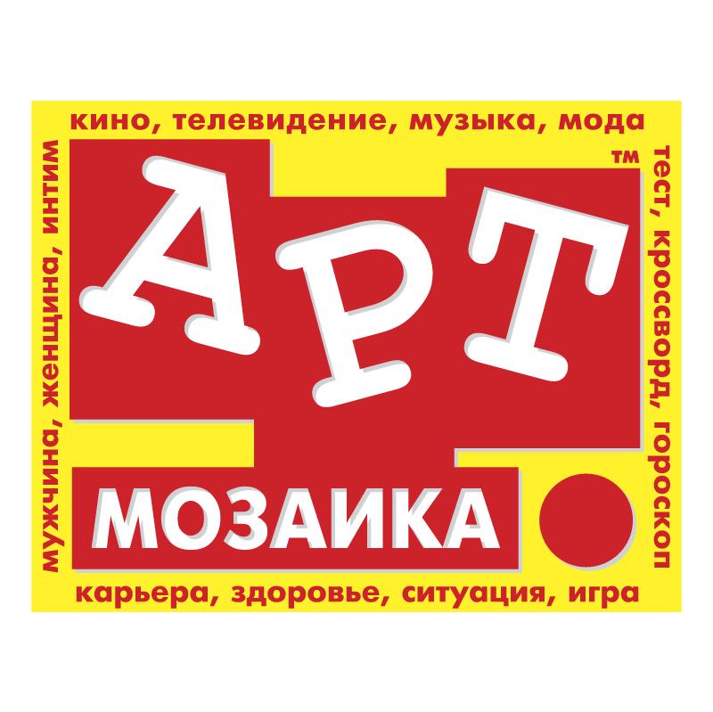 Art Mosaic Newspaper vector