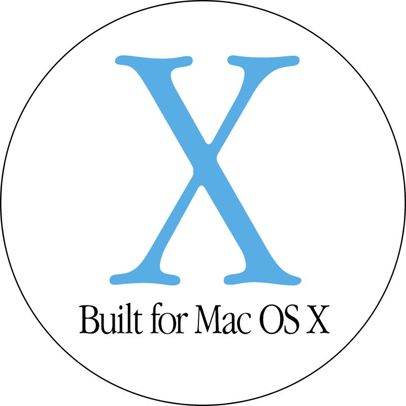 BUILT FOR MAC OS X 1 vector