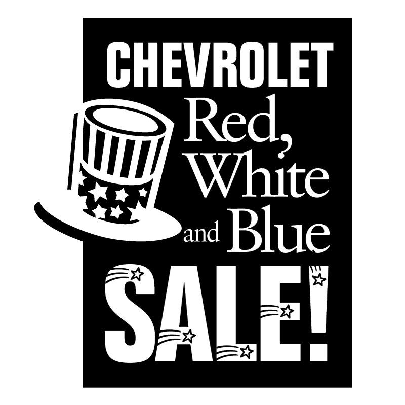Chevrolet Red White and Blue Sale vector