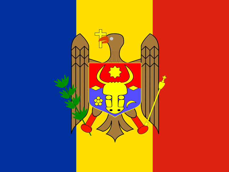 Flag of Republic of Moldova vector
