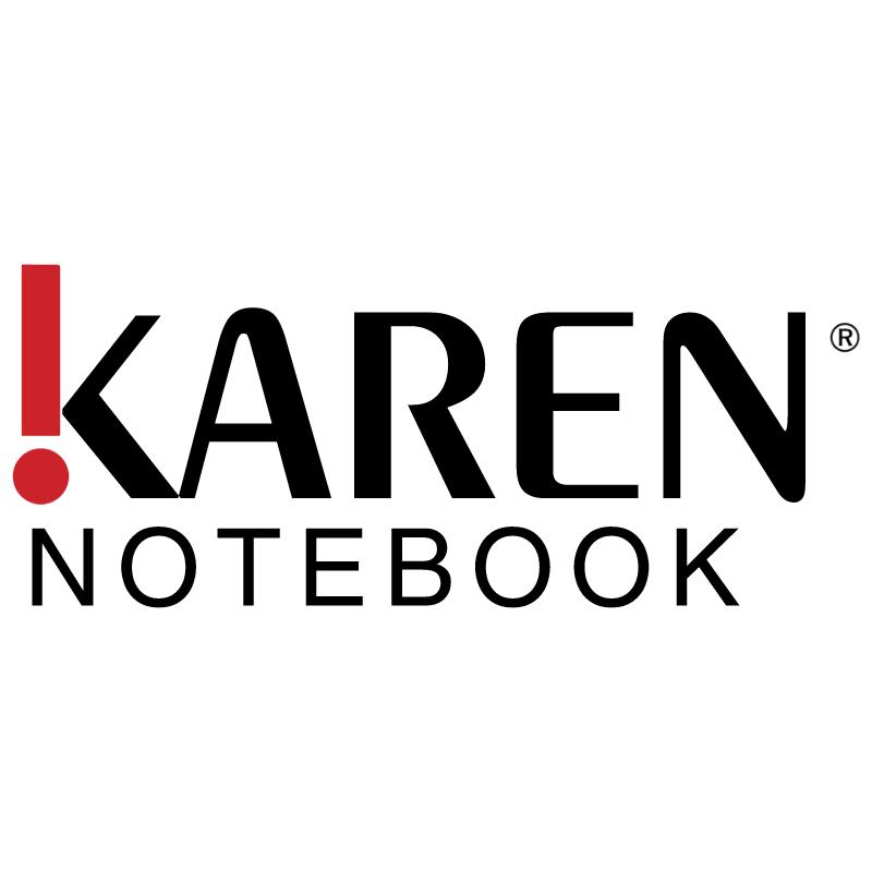 Karen Notebook vector