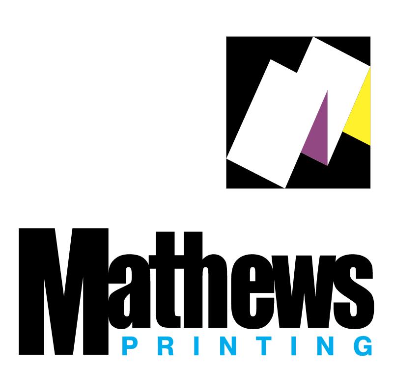 Mathews Printing vector