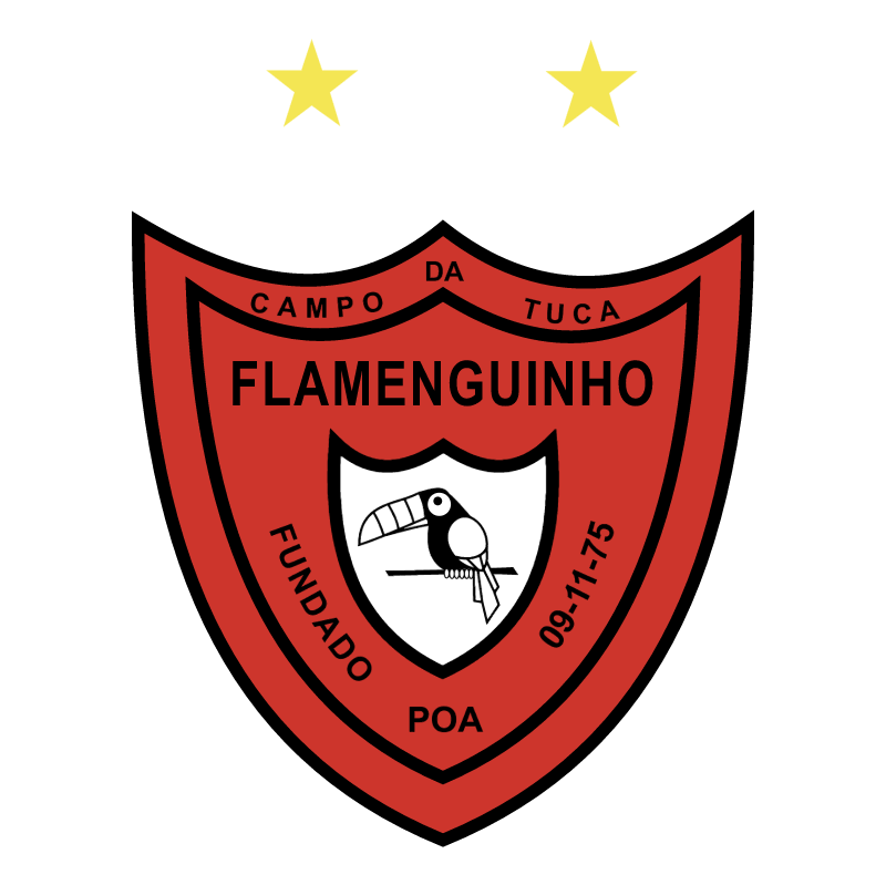 Sociedade Cultural Beneficiente e Esportiva Flamenguinho do Morro da Tuca Porto Alegre RS vector