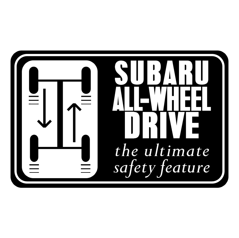Subaru All Wheel Drive vector