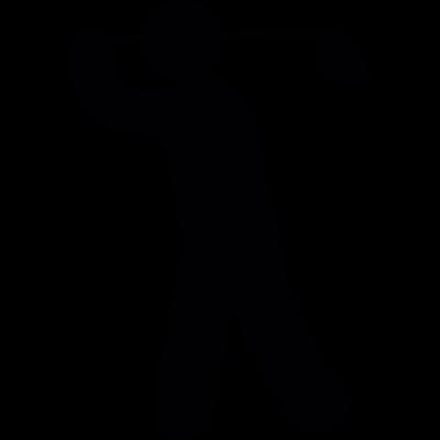 Golf player vector logo