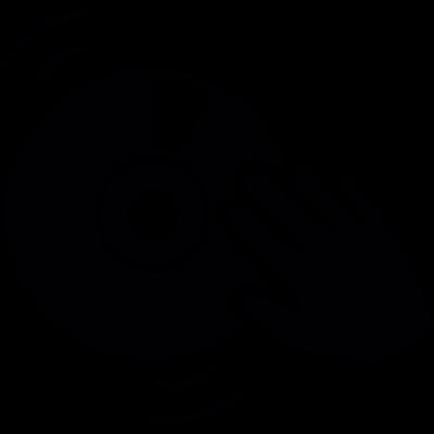 Dj hand motion vector logo