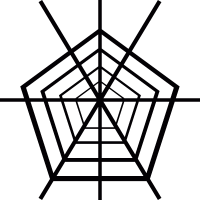 Pentagon Spider Web vector