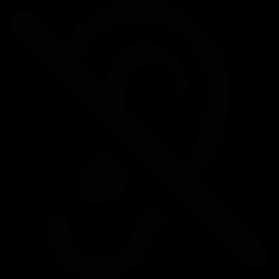 No sound vector logo