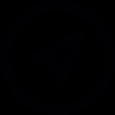 Pointer in a circle vector logo