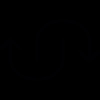 Two Curve Arrows vector logo