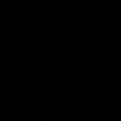 Temperature plus IOS 7 symbol vector logo