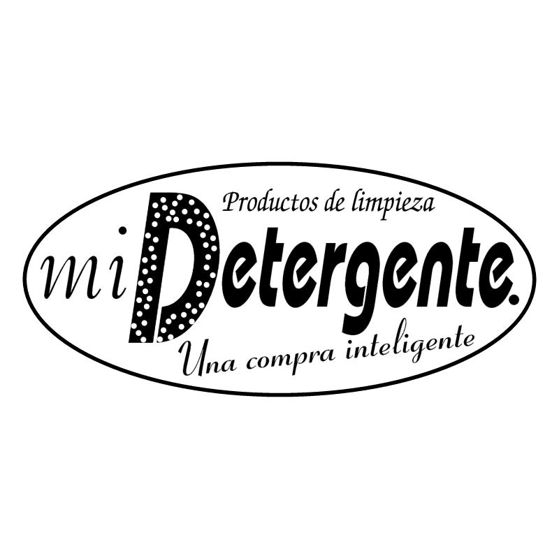 Mi detergente vector