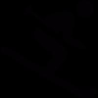 Skiing stickman vector