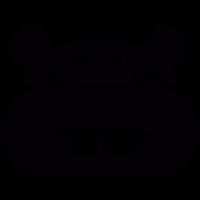 Hippo head vector