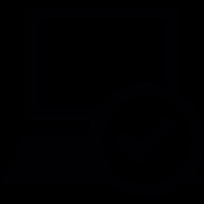 Checked Laptop vector logo