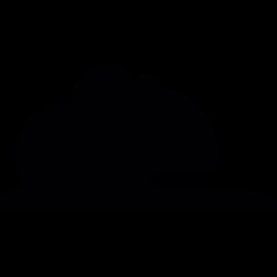 Black cloud vector logo