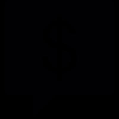 Dollar In Bubble Speech vector logo
