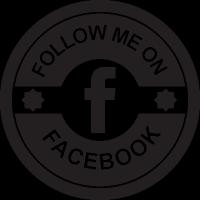 Facebook social retro circular badge vector