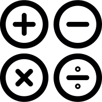 Calculator Buttons vector