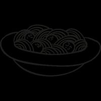 Plate of Spaghetti vector