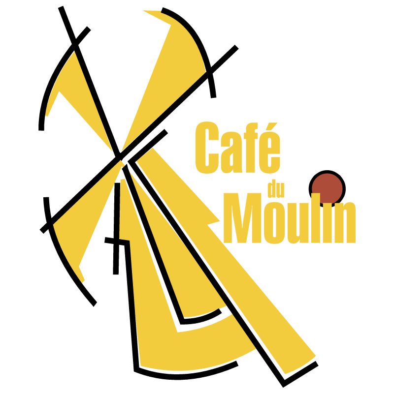 Cafe du Moulin 1058 vector logo