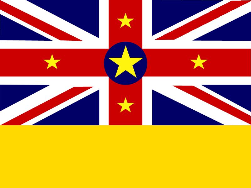 Flag of Niue vector