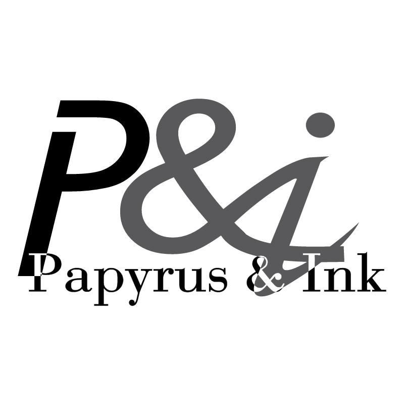 Papyrus & Ink vector logo