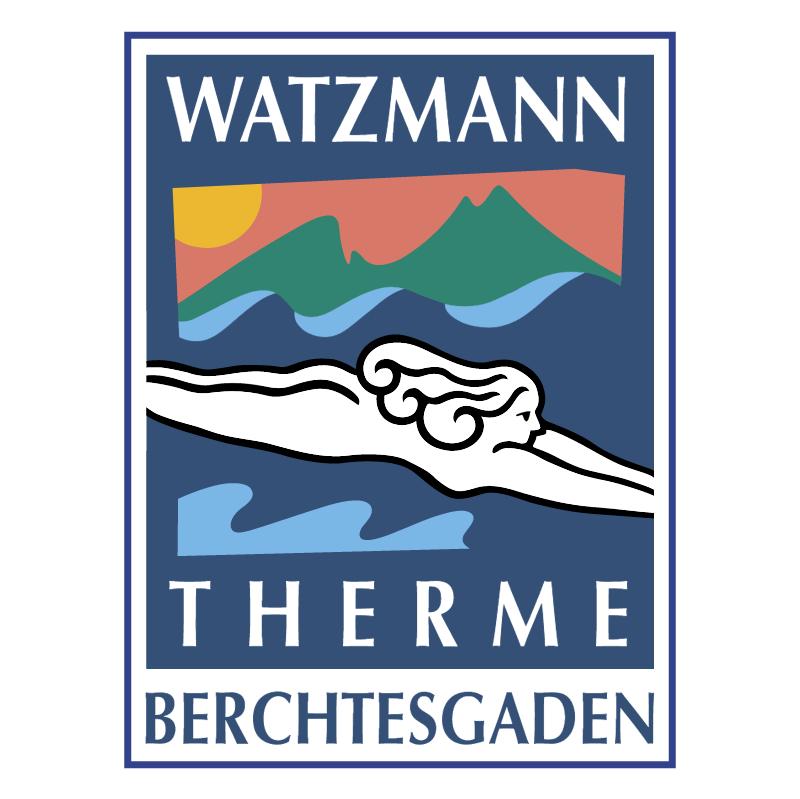 Watzmann Therme Berchtesgaden vector logo