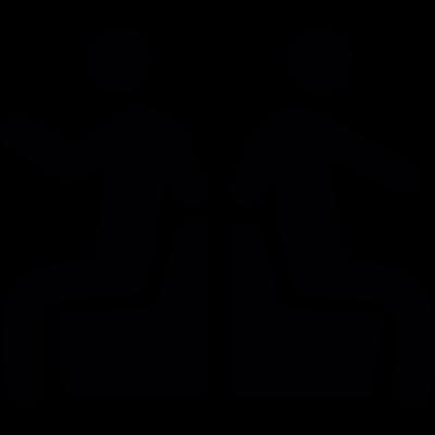 People sitting vector logo