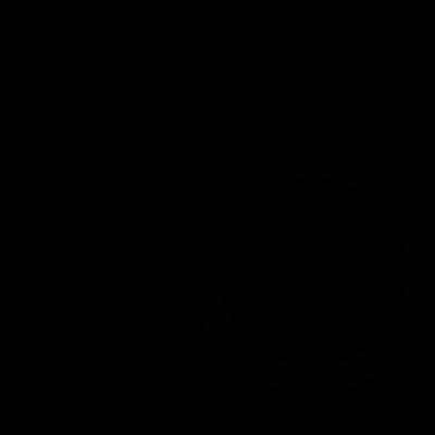 Video cancel button vector logo