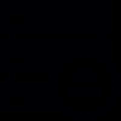 Server eject button vector logo