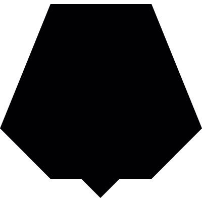 black nonagon vector logo