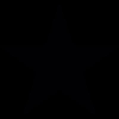 Pointed star vector logo