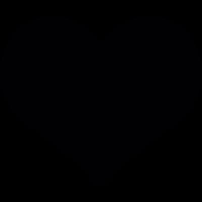 Valentines heart shape vector logo