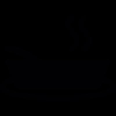 Hot soup vector logo