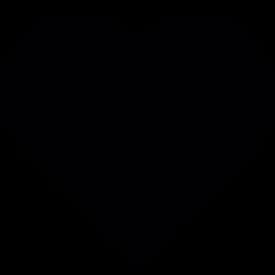 Valentines black heart vector logo